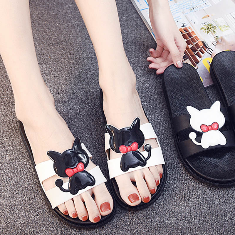 Bailehou Fashion Women Indoor Home Slippers Female Summer Beach slippers Non-slip Slippers Cartoon Cute Shoes Women Flip Flops 1