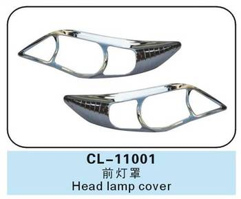 2pcs ABS Chrome Car HEAD LAMP COVER for toyota corolla 2011 accessories