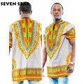 Dashiki africano Ropa Blusa de Impresión Tradicional de Las Camisas Cortas de Los Hombres