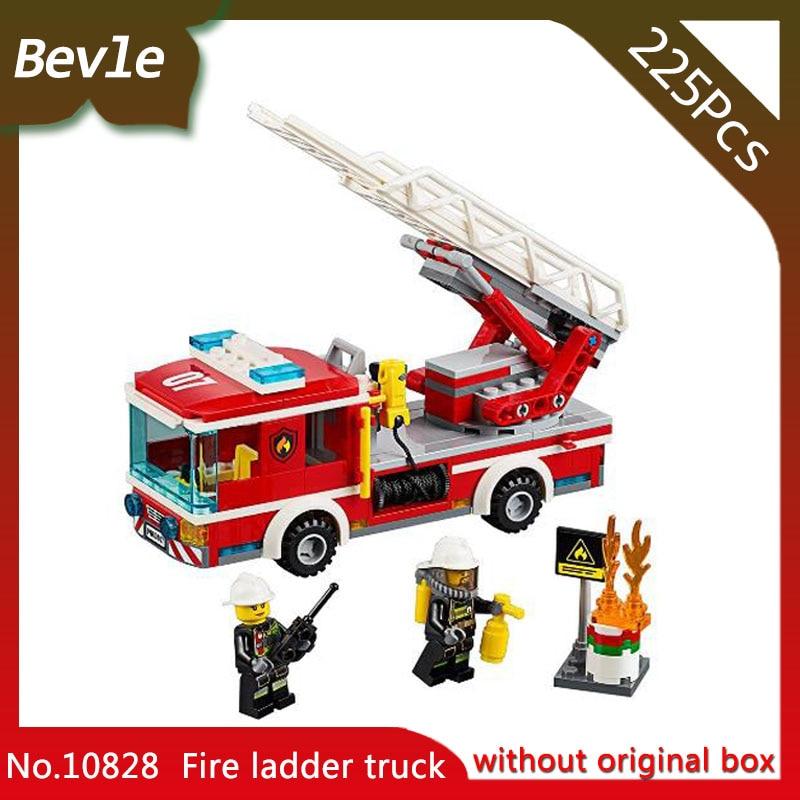 Bela 10828 225pcs City The Fire Ladder Truck Building Block Children DIY Educational Toys Compatible Legoings 60107