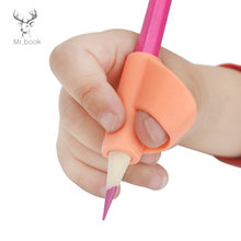 6pcs Kids Silicone Pencil Holder Pen Writing Aid Grip Posture Correction Tools School Stationery Students Pen Writing Control