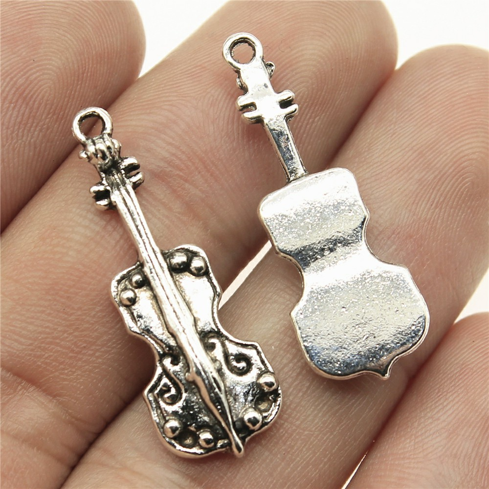 WYSIWYG 6pcs 32*11mm Cello Pendants Charms Findings Jewellery Making Findings for DIY Craft