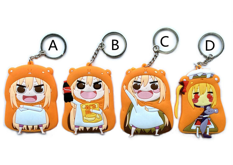 4 pcs/lot Himouto umaru-chan figure pendant Doma Umaru anime girl cosplay keychains free shipping