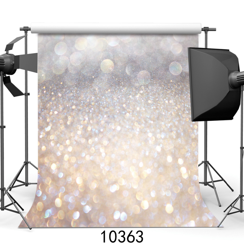 Sliver Sparkles Bokeh Vinyl Photography Backgrounds for Photo Studio Computer Printed Photo Backdrop for Photocall for Baby photo vinyl backdrop top promotion studio photography backgrounds 6 5ftx10ft 2x3m computer paint foldable free shipping
