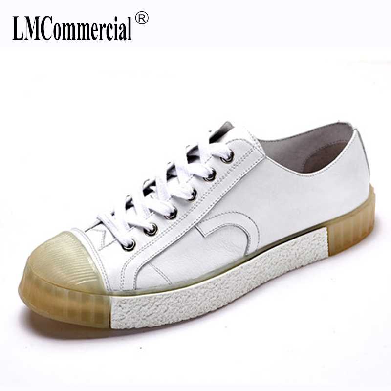 Men's shoes spring summer autumn new all-match cowhide Genuine Leather shoes men fashion men's casual shoes breathable sneaker m genreal 2017 new women white shoes all match summer breathable leather shoes vulcanized casual shoes candy color lace 35 39