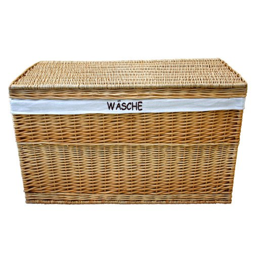 WICKER LAUNDRY LINED LINER STORAGE UNIT CHEST TRUNK BOX BASKET Rattan  100x58x58 Cm