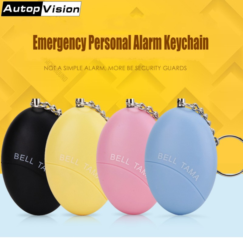 Mini Personal Alarm Keychain Bell Tama Portable Keychain Alarm 120dB Anti-attack Anti-Wolf Alarm For Women Kids Elderly Students