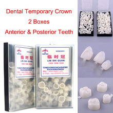 120Pcs Dental Temporary Tooth Crown Posterior&Anterior Crown Resin Teeth Dentistry Lab Material Dentist Tools недорого
