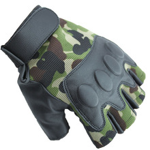 Outdoor tactical half gloves soft and comfortable imitation leather cycling half gloves