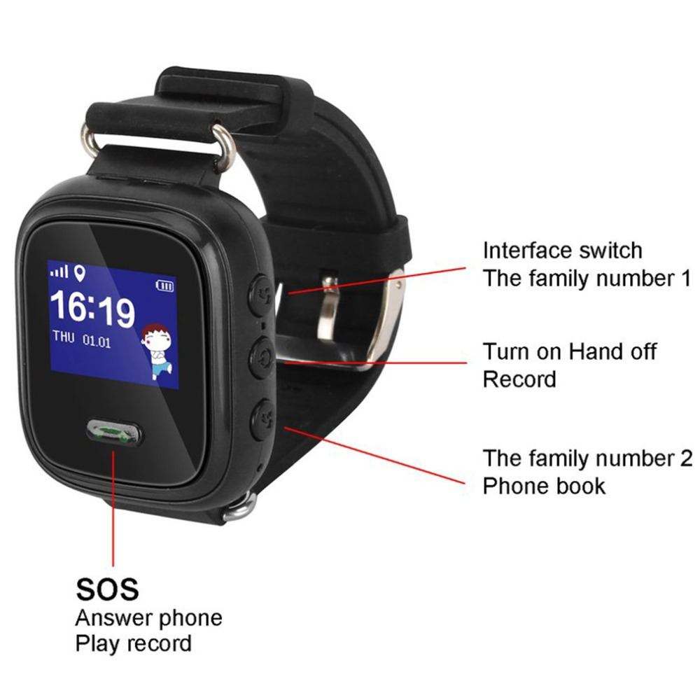 Q60 Child Smartwatch Safe-keeper Sos Call Anti-lost Monitor Real Time Tracker For Children Base Station Location App Control Smart Electronics