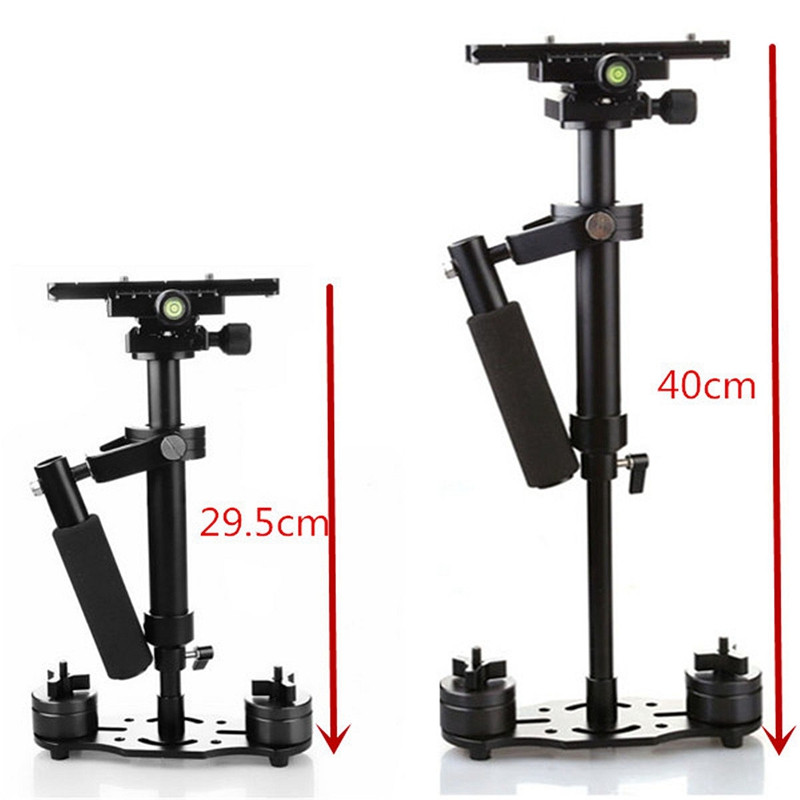 40cm S40 Professional Handheld Stabilizer Steadicam Camcorder Digital Camera Video For Canon For Nikon DSLR Mini Steadycam s40 40cm professional carbon fiber mini dslr video camera dv camcorder stabilizer steadycam steadicam for canon sony nikon gopro