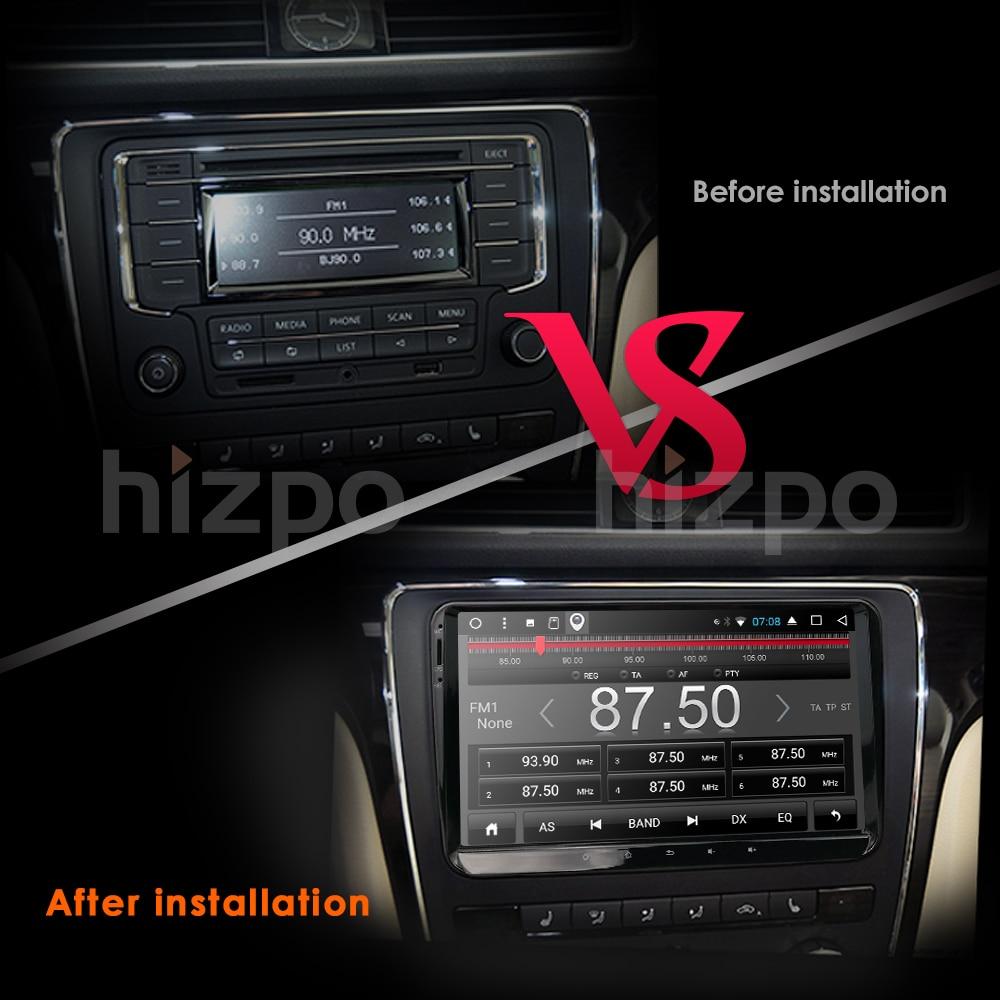 Hizpo 2din android 7.1 2 + 16 auto NOdvd b6 golfi jaoks 4 5 tiguan - Autode Elektroonika - Foto 6