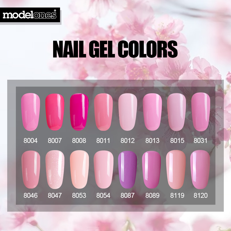 Modelones 6pcs Lot Nail Gel Polish Set Diy Art Semi Permanent Led Enamel Long Lasting Pink Series