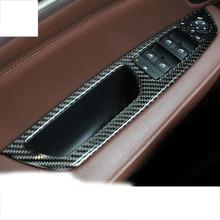 цена на lsrtw2017 carbon fiber car window control panel trims for bmw x5 x6 e70 e71 2008 2009 2010 2011 2012 2013
