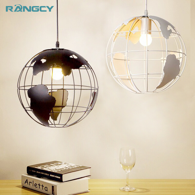 European Modern Simple Pendant Lights Creative Art Globe Iron LED Cafe Aisle Bedroom Bar Restaurant Lamp 110V-240V rectangular dining room pendant lights european style led crystal pendant lights modern restaurant lamp bar cafe creative lamps