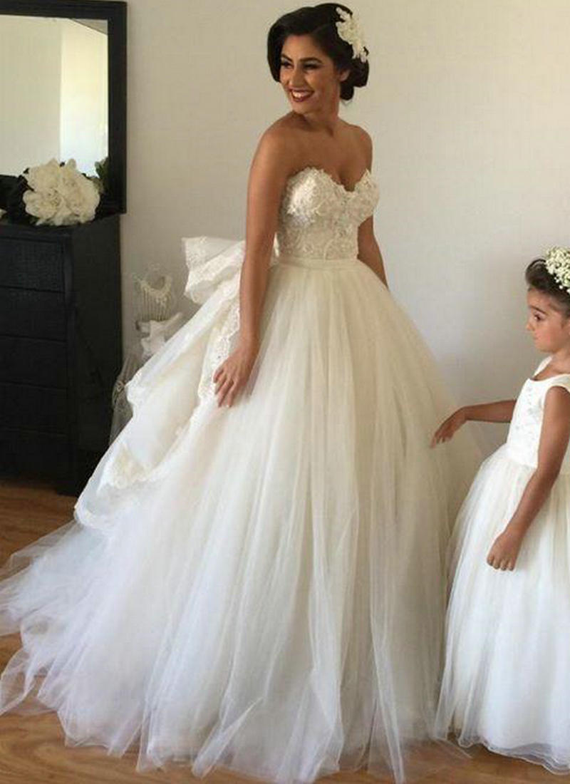 2017 wedding dresses with detachable train sweetheart for High low ball gown wedding dress