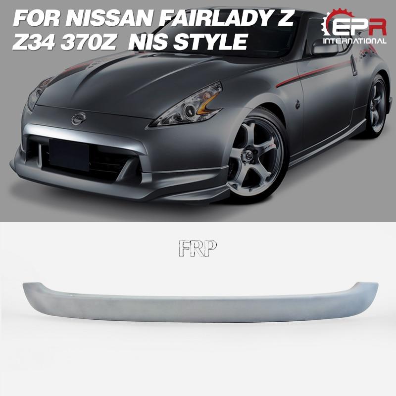 Garniture de pare-chocs pour Nissan Z34 2009 + NIS Style Fiber de verre/FRP avant pare-chocs avant menton Spoiler Kit de carrosserie garniture de réglage pour Z34 Racing