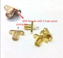 10 ШТ. SMA женский 2 отверстия Шасси Для Монтажа в панель продлен диэлектрическую припоя разъем оптовая