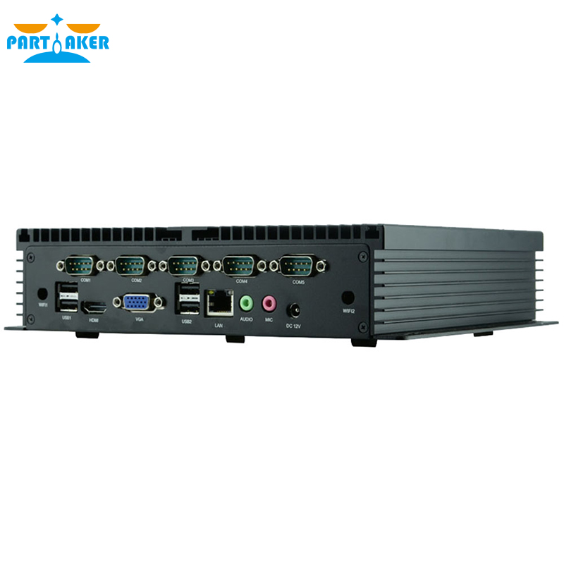 Partaker Q1 I5 3317U Industrial Mini PC Windows 10 Fanless PC With 6 COM Can Support COM RS485