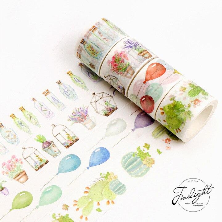 10 Pcs/lot DIY Japanese Paper Decorative Adhesive Tape Love Life Washi Tape/Masking Tape Stickers Size 8M