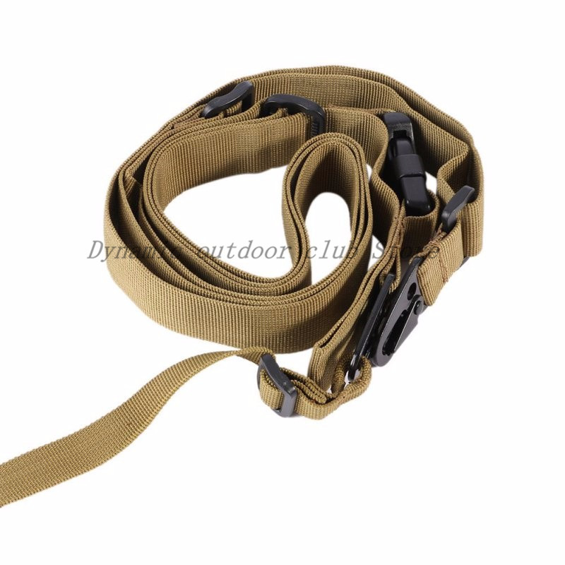 Image 2 - 3 Point Rifle Sling Adjustable Durable Tactical Bungee Sling Swivels Airsoft Hunting Gun StrapNew Arrival-in Hunting Gun Accessories from Sports & Entertainment