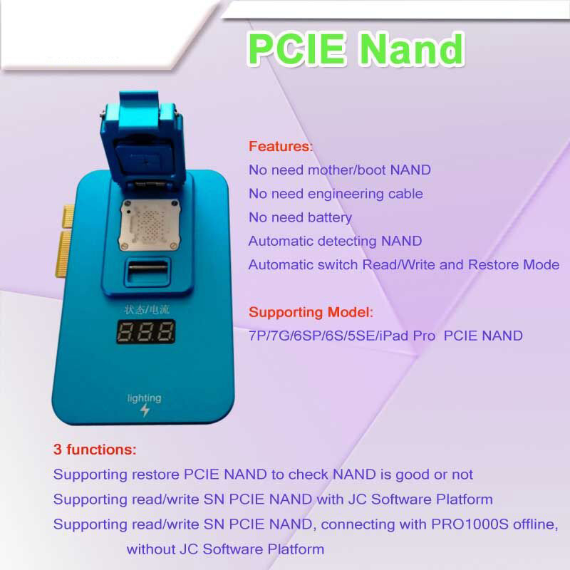 Image 2 - Naviplus Pro3000S JC Pro1000S Phone NAND Programmer HDD Read Write Tool For iPhone X 8 8Plus 7 7P 6 6S 5 All iPadPower Tool Sets   -