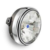 Motorcycle Round Chrome Halogen Headlight Lamp For Honda CB 400 CB400 VTEC CB400Superfou Hornet CB600 CB500 CB1300 cb250 cb900