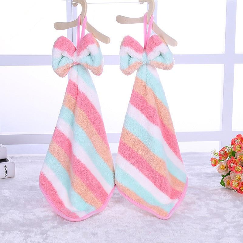 Rainbow Hand Towel Cartoon Towel For Kids Chidren Microfiber Absorbent Hand Dry Towel Kitchen Bathroom Soft Plush Dishcloths