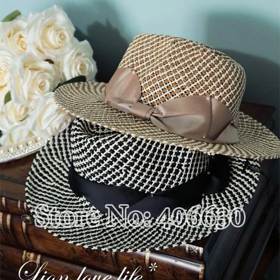 Летом соломенная fedora для женщин широкими полями вводная часть вс шляпы женский сомбреро женщин бесплатная доставка EMS