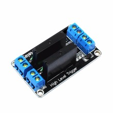 цена на 2-way 5V high level solid state relay module, with fuse, solid state relay 250V2A