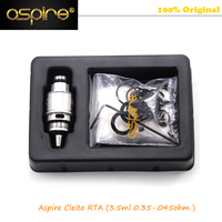 Original Aspire Cleito RTA System with Dual Coil Velocity-Style Deck Clapton Coils Tempestuous Airflow for Cleito Tank 1pcs
