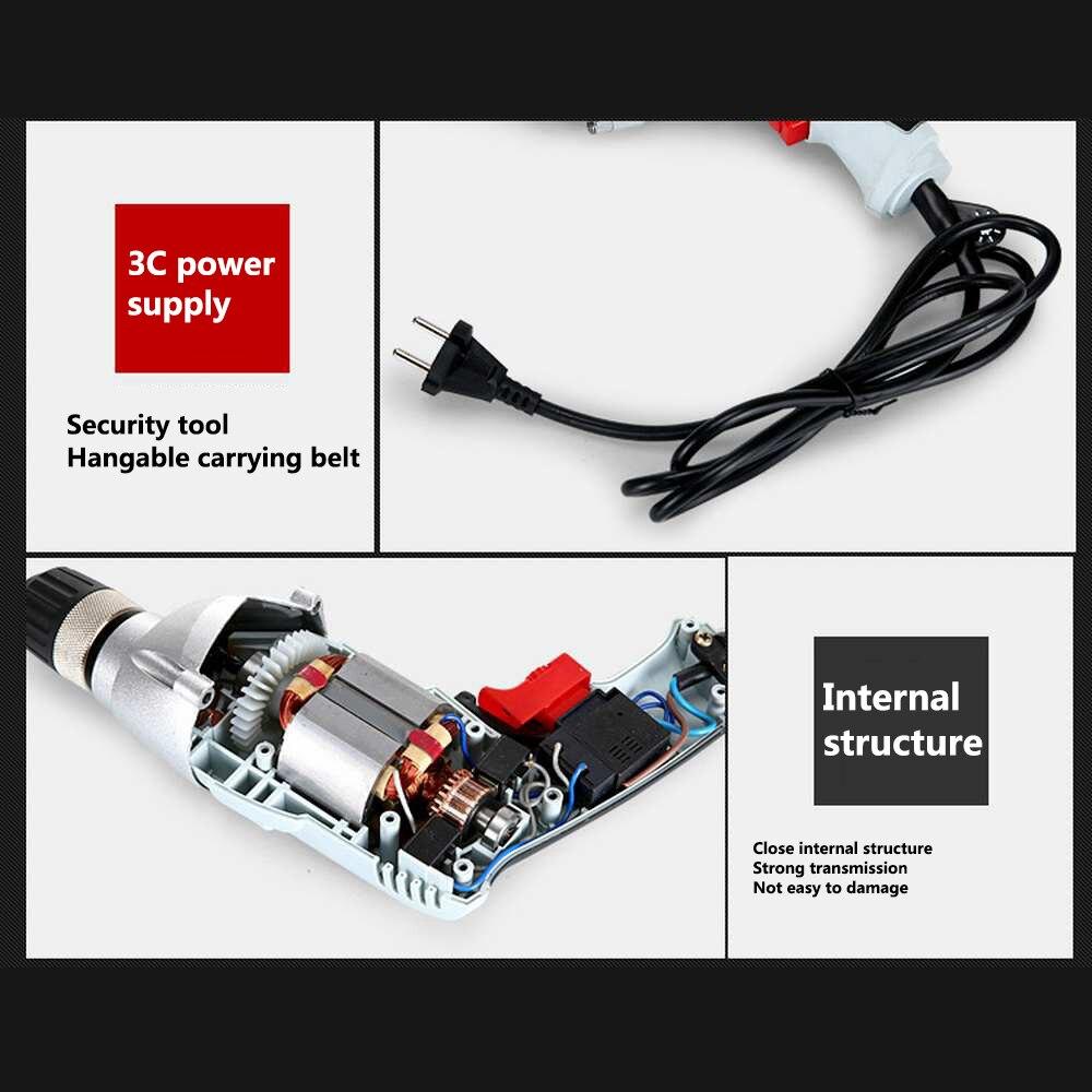 Multi-fonction perceuse visseuse Positive et négative réglage entraînement 550W EU refroidissement rapide électrique perceuse visseuse HomeTool - 3