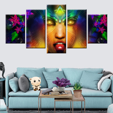 5 panel modular wall art HD print color religious symbol poster canvas painting for home decoration mural
