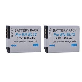 2pcs 1800mAh EN-EL12 ENEL12 EN EL12 Battery for Nikon CoolPix S610 S610c S620 S630 S710 S1000pj P300 P310 P330 S6200 S6300 фото