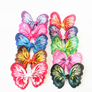 Image 3 - 100pcs Dog hair accessories  Butterfly design Dog Pet hair bows Rubber bands Pet grooming products Fashion Pet Supplies