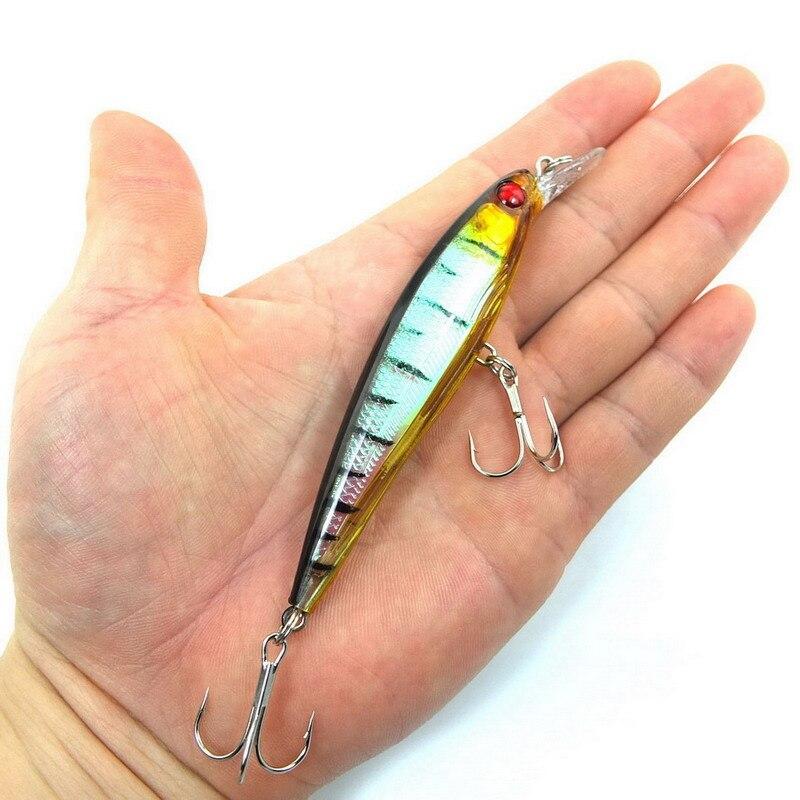 1PCS Laser Minnow Fishing Lure 11CM 13G pesca hooks fish wobbler tackle crankbait artificial japan hard bait swimbait