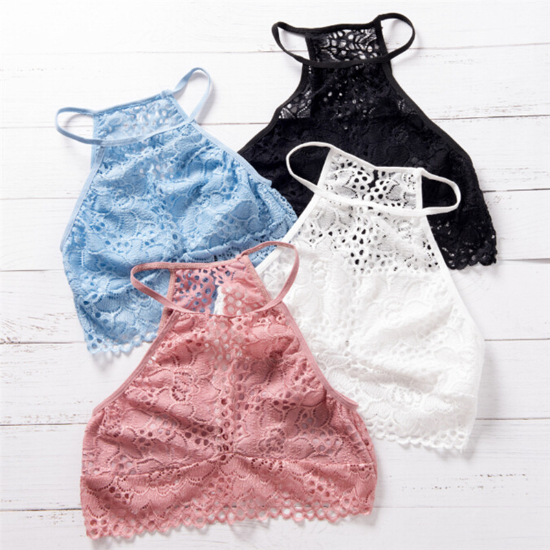 Hot Sale Women Fashion Summer Backless Vest Top Casual Lace Floral Sleeveless Tank Tops Sexy Crop Top