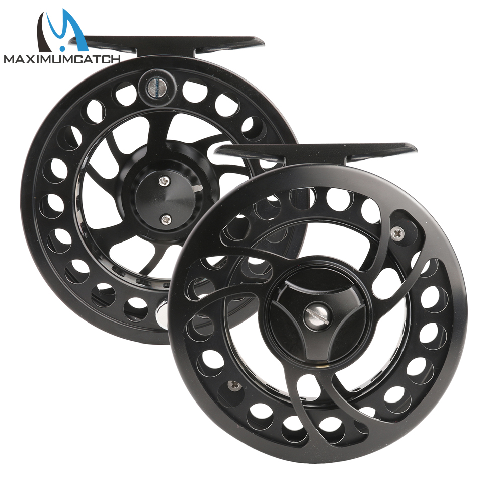 Maximumcatch Fly Reel 2-10WT CNC Machine Cut Aluminum Large Arbor Fly Fishing Reel maximumcatch hvc 7 8 weight exclusive super light fly reel chinese cnc fly fishing reel large arbor aluminum fly reel