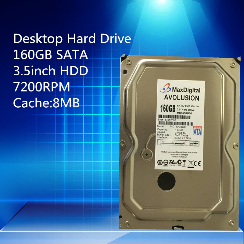 цены  160GB HDD SATA 3.5inch 7200RPM 8MB  Desktop Hard Drive Warranty for 1-year