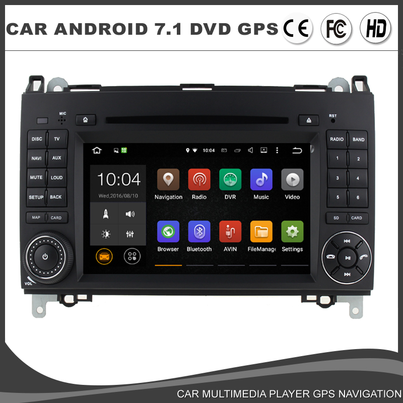 Auto Radio Sat Navi Car Android 7.1.1 DVD <font><b>GPS</b></font> Player For <font><b>Mercedes</b></font> Benz B/A-Class Sprinter W639 W169 W245 B200 <font><b>B180</b></font> Vito Viano HD image