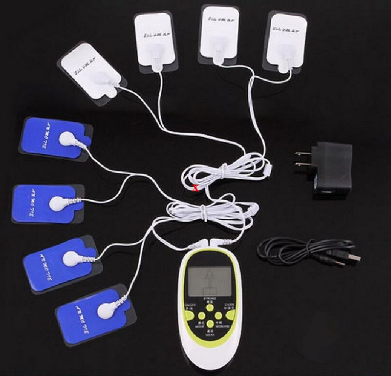 Body EMS MASSAGER MACHINE TENS UNIT Multi functional dual output massager 8 electrode pads Electronic pulse