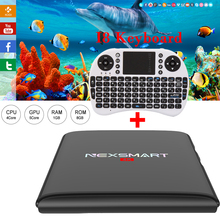 NEXSMART D32 RK3299 Quad-core A7 Android 5.1 Tv Box 1G 8G UHD 4K 2K H.265 Set Top Box Support DLNA Miracast With I8 Keyboard