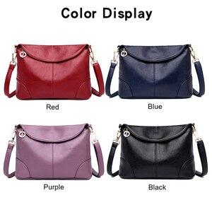 Image 3 - חדש אלגנטי כתף תיק עבור נשים עור אופנה מעטפת Crossbody תיק עם 2 רצועות כתף שחור כחול סגול אדום