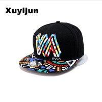 Unique Personality Color Graffiti Snapback Caps Flat Hip Hop Cap Baseball Hat Hats For Men And
