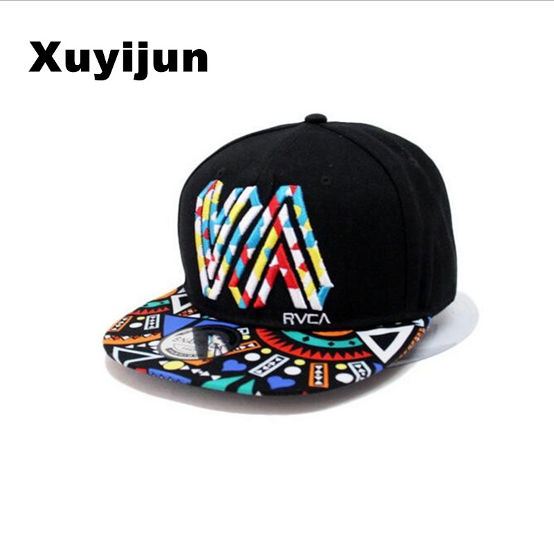 Xuyijun Unique personality color graffiti Snapback Caps Flat Hip Hop Cap Baseball Hats For Men and woman bone Casquette dad caps цены онлайн