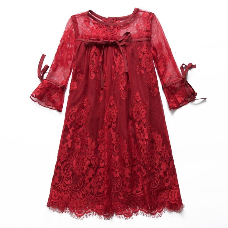 2017 Summer Style Girls Dress Kids Wedding Party Dresses Children Fancy tutu Dress Teenagers Robe Fille Enfant Lace girl clothes