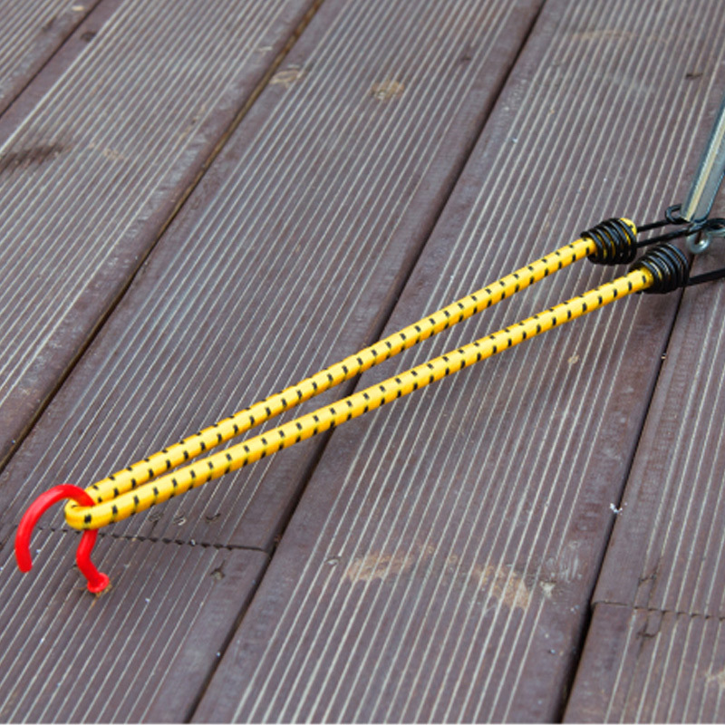 60 cm cuerda al aire libre cuerda elástica carpas cuerda hebilla de metal alto estiramiento ropa camping equipaje embalaje gancho hebilla H3-3