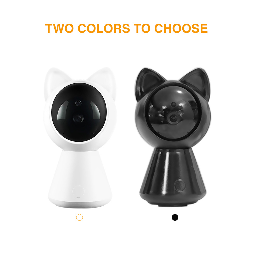 A280 Cat IP WiFi Camera HD 360 degree Wireless Baby Monitor Pan Tilt  Infrared Security Door Camera Night Vision Mini Robot