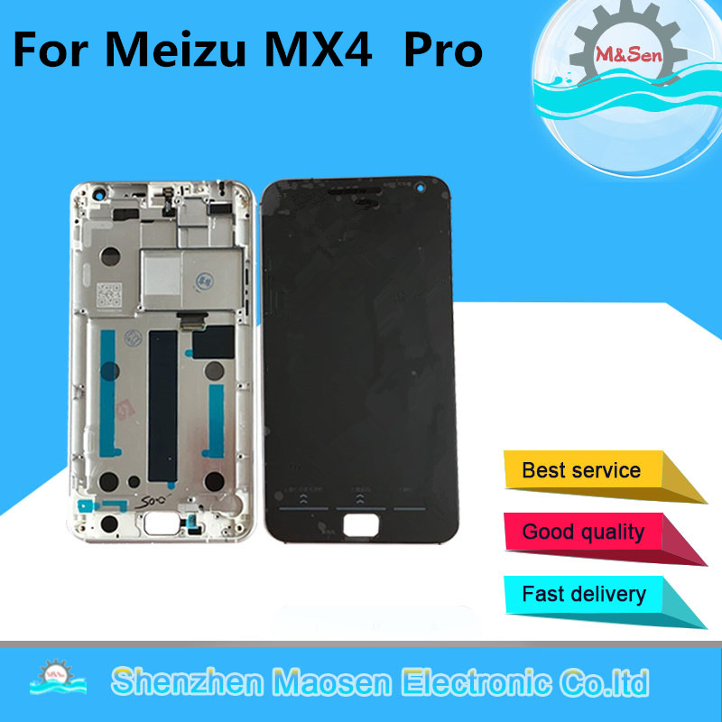 M Sen For 5 5 Meizu MX4 Pro LCD screen display touch panel digitizer with frame