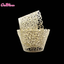 Hollow Cupcake Wedding Paper Wrapper 120Pcs